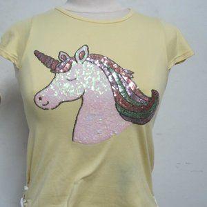 Btween 10 girls unicorn sparkle top